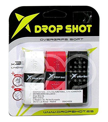 DROP SHOT Overgrip Soft x 3 UD Pala de Pádel, Adultos Unisex ...