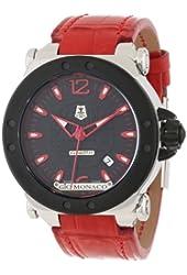 Gio Monaco Men's 763-A2 Graffiti Automatic Black Dial Alligator Leather Watch