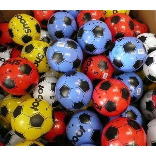 Paquete de 12 balones de fútbol de PVC, de 25 cm de diámetro ...
