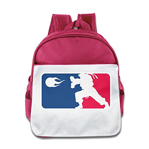VenC Girl's And Boy's Children Kid's Backpack Pre School Backpack Fashion STREET FIGHTER RYU HADOKEN Backpacks Pink