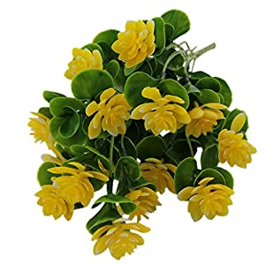 MonkeyJack Springs Flowers Artificial Silk Valentine bouquets Wedding Home Decoration,Pack of 1 Yellow 98