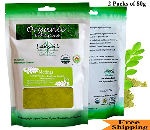 Certified Organic 5.7oz/160g Pure Premium Grade MORINGA Powder(Just arrived)-Gourmet