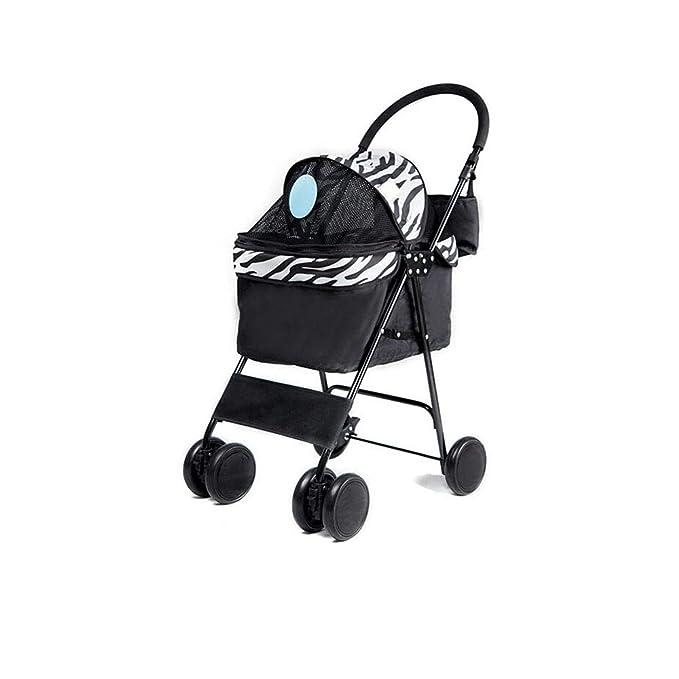 WMDD Pet Dog Cat Animal Stroller Easy Fold Oxford Cloth ...