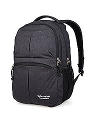 Doleesune 8459 Water Resistant Nylon Backpack College School Bag (Black)