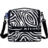 zebra kitchen dishes - Wildkin Two Compartment Lunch Bag, Insulated, Moisture Resistant and Easy to Clean, Complete with a Microwave and Dishwasher-Safe Container, Ages 5+, Perfect for Kids & On-The-Go Parents, Zebra