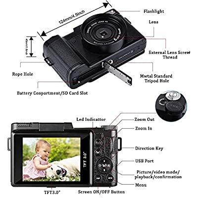 Digital Camera Camcorder, Weton Full HD 1080P Video Camera Camcorder by Weton