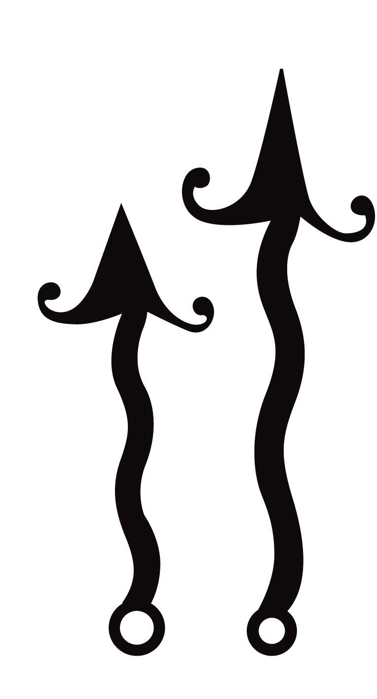 Artemio 77/100 mm frecce ondulate orologio vivavoce nero 14001519