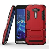 DWay Armor Case ASUS ZenFone 2 Laser ZE551KL Hybrid Design with Stand Feature 2 In 1 Combo Dual Layer Detachable Protective Shell Phone Hard Back Case Cover for ASUS ZenFone 2 Laser (ZE550KL/ZE551KL) 5.5inches (Marsala Red)