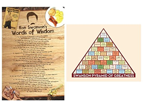 Ron Swanson Inspired Poster Set ; Words of Wisdom and Pyrami