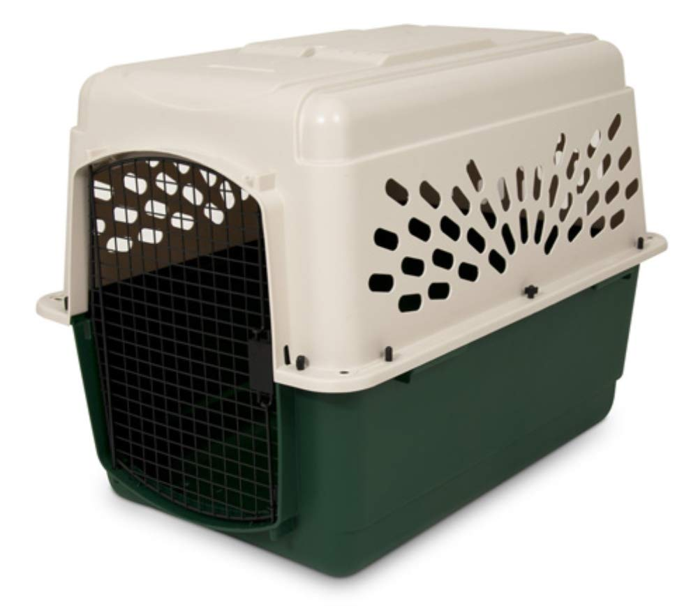 Petmate Ruffmaxx Travel Carrier Outdoor Dog Kennel 360-degree Ventilation Almond/Green 6 sizes by Petmate