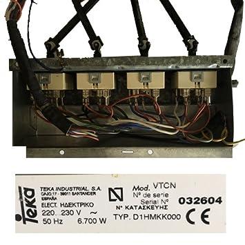 Caja Selectores Vitroceramica Teka D1HMKK000 SWAP: Amazon.es ...