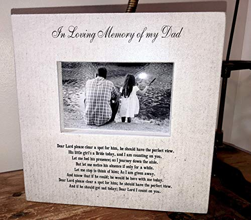 In Loving Memory Dad Wedding Picture Frame Wood box In Loving Memory Sign Picture Frame Wedding Memory Father of the Bride