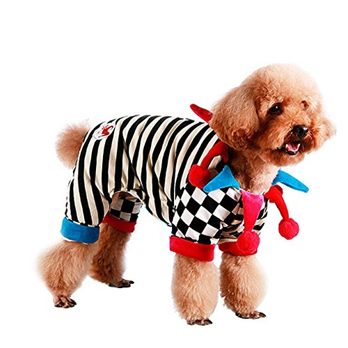 LUCKSTAR Dog Hoodie - Clown Style Adorable Dog Costumes Funny Dog Clothes for Halloween Costumes Party (Funny Halloween Pet Costumes)