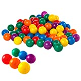"Intex Small Fun Ballz - 100 Multi-Colored 2 1/2"" Plastic Balls, for Ages 3+"