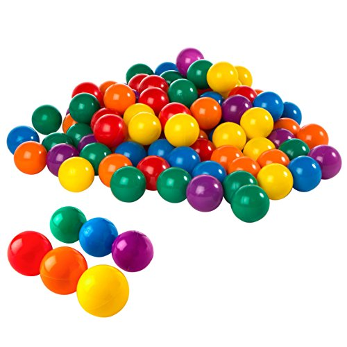 Intex 2-1/2 Fun Ballz - 100 Multi-Colored Plastic Balls, for Ages 2+ 49602EP