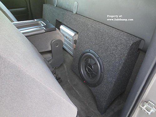 - 99-06 Chevy Silverado/GMC Sierra Regular Cab Dual 12 Subwoofer Box with Amp Space