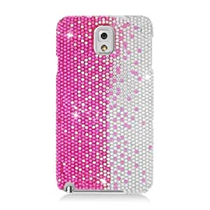 Bloutina Eagle Cell Full Diamond Protector Case for Samsung Galaxy Note 3 - Retail Packaging - Silver/Pink