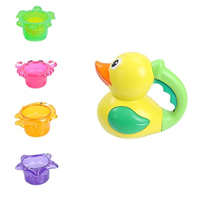 Stack Cup Sea Animal Bath Toy Indoor Outdoor Beach Tub Fun Water Toy, Baby & Toddler Toys (Multicolor), Shipping from The United States: Garden & Outdoor
