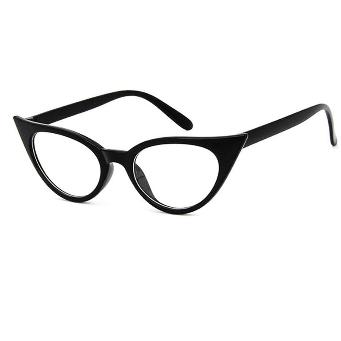 Dawnzen 50er Jahre Damen Brille Elvis Rahmen Partybrille Cat Eye ...