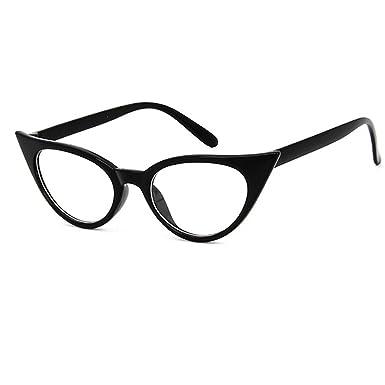 88ede4b6aeaba Dawnzen® Mujer Gafas de Gato Montura Marcode Gafas
