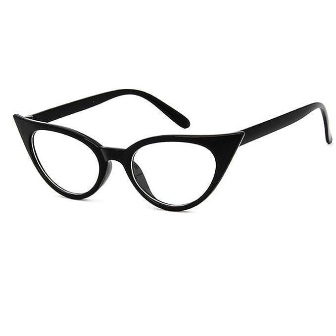 Sencillas gafas negras con efectos ojos de gato. Opción de otros estilos.