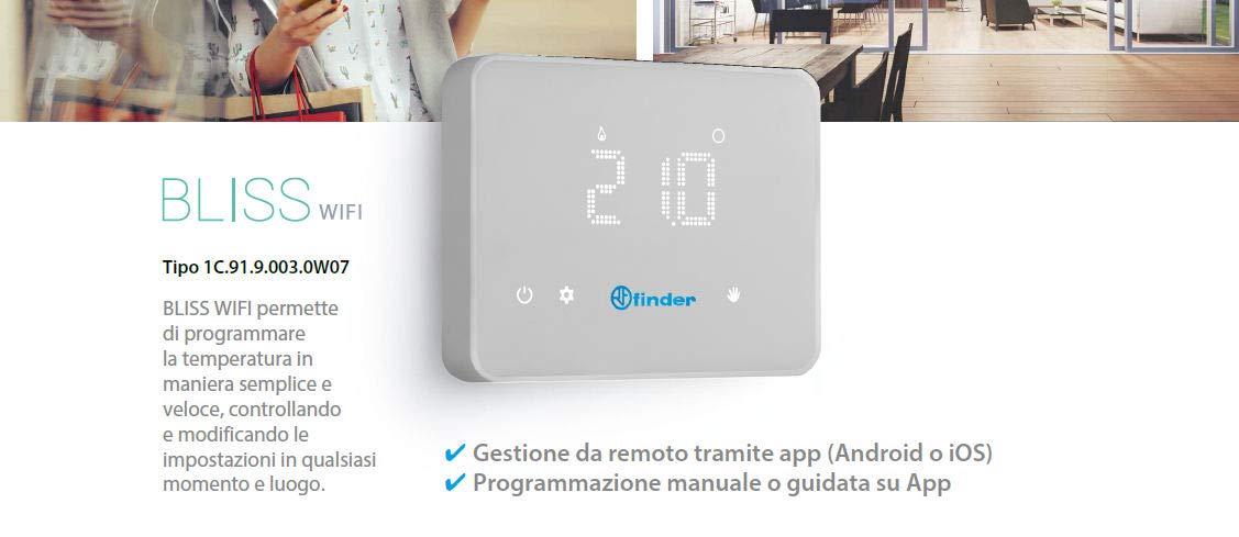 FINDER CRONOTERMOSTATO WiFi Bliss: Amazon.es: Electrónica