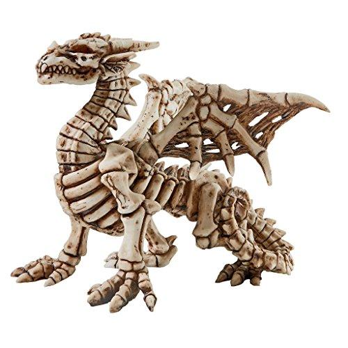 Design Toscano Corpus Crux Gothic Dragon Skeleton Statue, Full Color