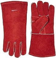 Amazon Basics Welding Gloves - Red, 2-Pack