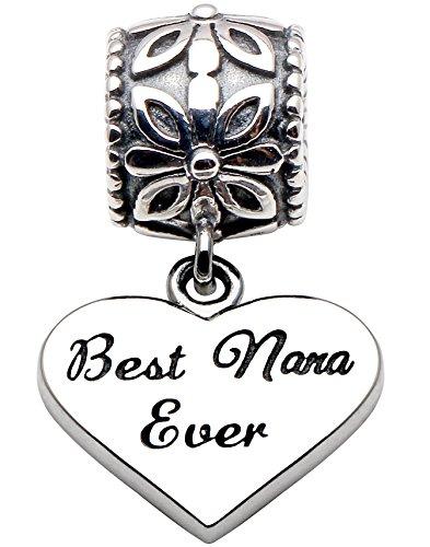 ALOV Sterling Silver Meilleur Nana Ever Perle charm
