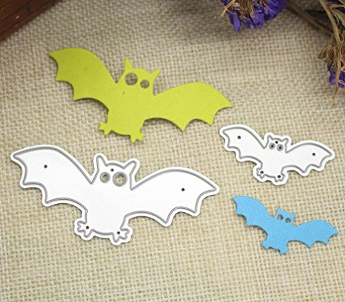 Coerni Happy Halloween Deco Metal Die-cut Cardstock Stencil Template for DIY Scrapbook Album Paper Card Craft Decoration on SALE E (A) -