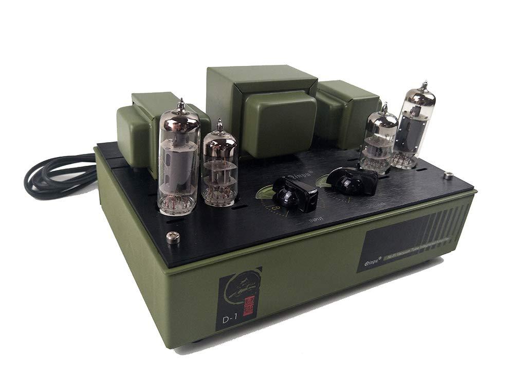QINPU D-1 ステレオ 真空管 - プリメイン アンプ 6N3 6p1 チューブアンプ A 級 アンプ シングルエンド   B07NW69GG6
