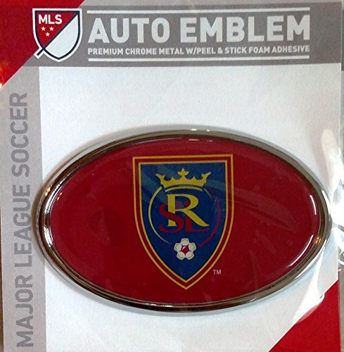 Real Salt Lake Raised Metal Domed Oval Color Chrome Auto Emblem Decal MLS Soccer Football Club by Stockdale