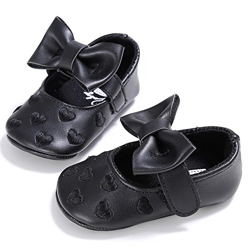 Zapatos de bebé, Switchali zapatos bebe niña bowknot verano Recién nacido Niña Cuna Suela blanda Antideslizante Zapatillas Bebé niña Princesa vestir casual Negro