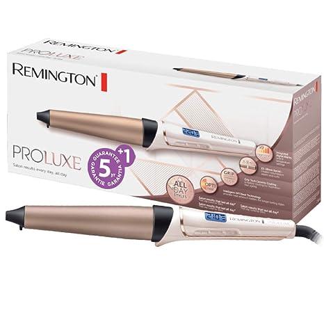 Remington PROluxe CI91X1 - Rizador de pelo, Pinza de 25-38 mm, Cerámica Avanzada GripTech, Digital, Rosa