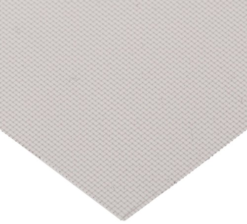 PEEK (Polyetheretherketone) Woven Mesh Sheet, Opaque Off-White, 12'' Width, 12'' Length, 35 microns Mesh Size, 22% Open Area (Pack of 5) by Small Parts