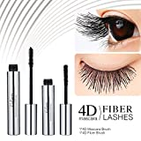 4D Silk Fiber Lash Mascara - DDK Waterproof Makeup Eyelash Extension Mascara Cream - Crazy Long Washable Mascara - Best for Thickening & Lengthening - Paraben-Free Natural & Non-Toxic Ingredients