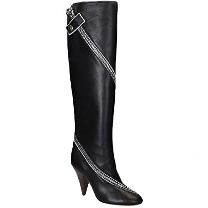 Céline Women s Black Soft Leather Knee High Boots Shoes - Size  7.5 US ... 1d82e20d72