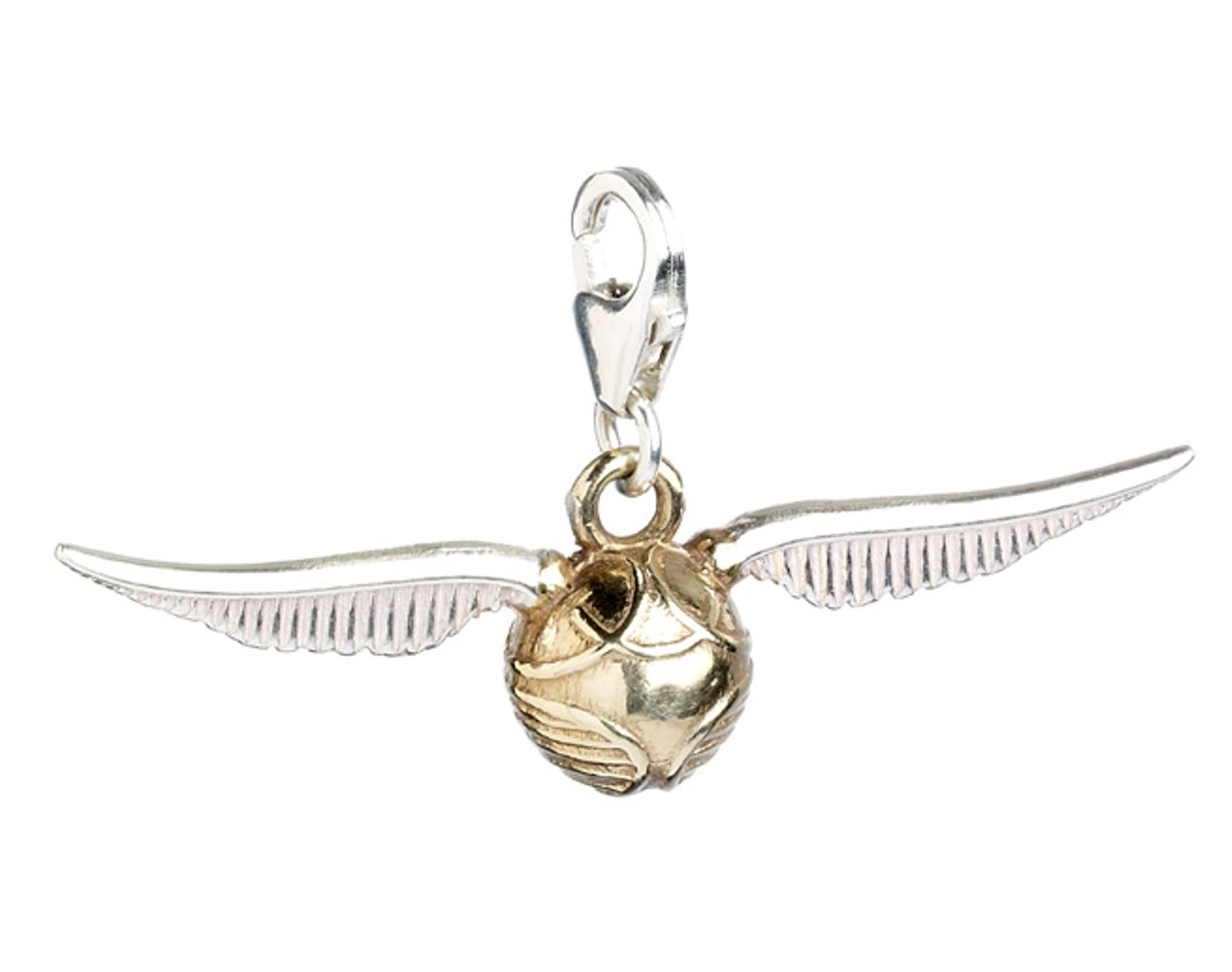 HARRY POTTER Official Jewelry Sterling Silver Golden Snitch Clip-On Charm