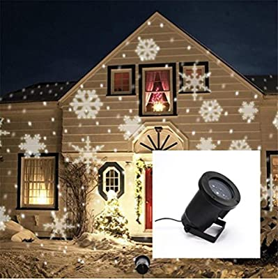 Xingyue Mythology Snow Projector Light Christmas Halloween Lawn Lamp Outdoor Waterproof LED Projection Lamp Figure Card Pattern Lamp , A