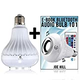 Light Bulb with Bluetooth Color Changing Features/Smart Audio LED Multicolored Changing Lamp with Wireless Speaker/ great for outdoor or indoor use for Parties, Bars, DJs, Nightlight