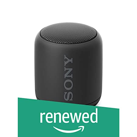 Renewed  Sony SRS XB10 Extra Bass Portable Splash Proof Wireless Speaker with Bluetooth and NFC  Black  Bluetooth Speakers