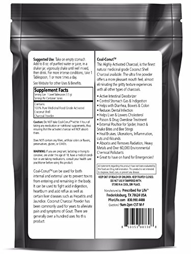 Coal-Conut (TM) - Activated Coconut Shell Charcoal Fine Husk Food Grade Powder (Ultra-Fine) - Organic Approved, 33 lb by Prescribed For Life (Image #1)