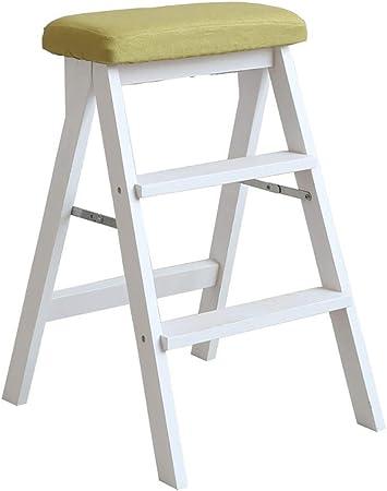 Taburetes escalera Taburete Plegable del pie de la Cocina del Taburete de Madera Multiusos del escalón de la Escalera de Paso del hogar, Carga máxima Resistente 150kg (Color : V): Amazon.es: Hogar