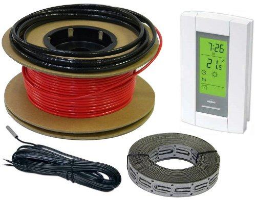 HeatTech 60-120 sqft Electric Radiant In-Floor Heating Cable System, 240V