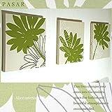 ファブリックパネル adornoPASAR グリーン 30×30×2.5cm 3枚セット 緑 壁飾り 花柄 北欧 植物柄 国産 おしゃれ adorno PASAR 同梱可
