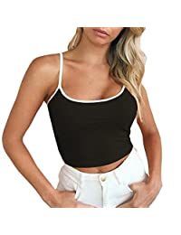 Lavany Women's Crop Tops Sexy Blouses Camisole Stretch Sleeveless Tops for Women