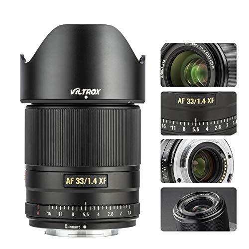 VILTROX 33mm F1.4 AF Lens for Fuji X-Mount, XF Auto-Focus Full Frame Portrait Lens for Fujifilm X-Mount Camera X-A7/A5…