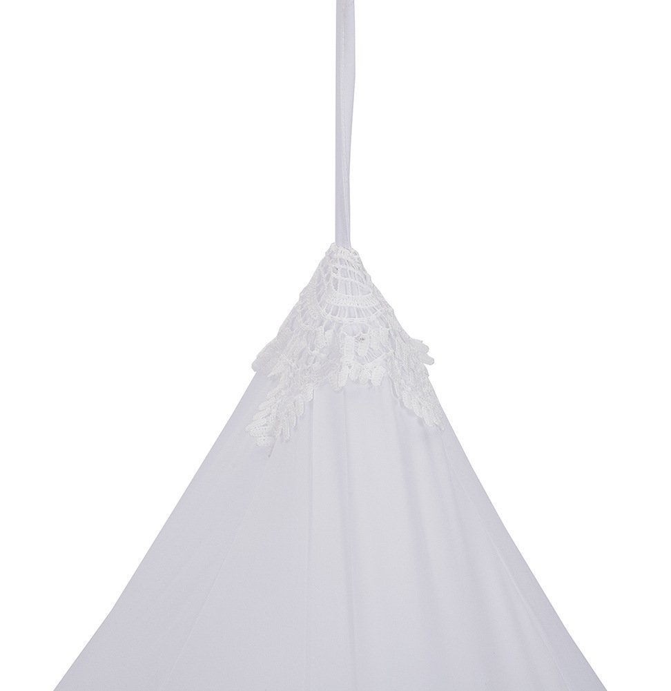 Kids Cotton Bed Canopy, Cotton Mosquito Net, Kids Princess Play Tents, Room Decoration for Baby (White) by Ginkago (Image #1)