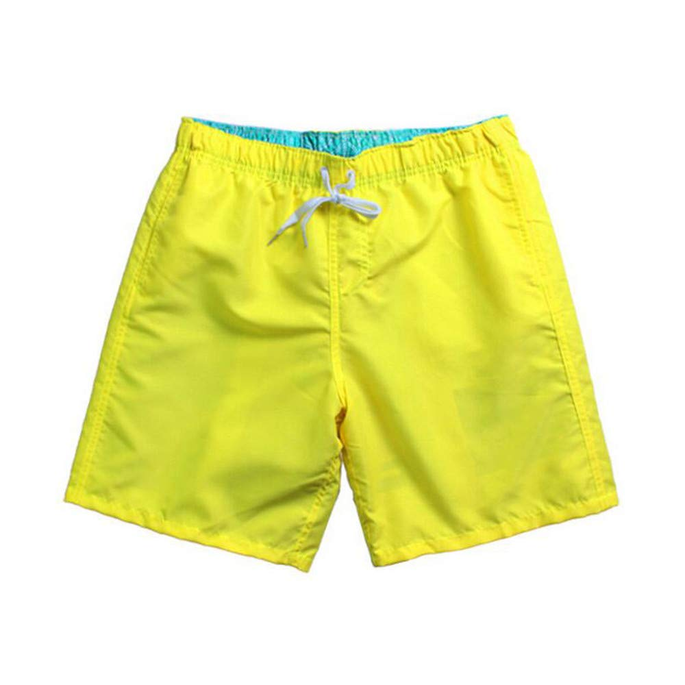 cuiwopmd Board Shorts Quick Drying Men Beach Shorts Solid Swimming Trunks for Bathing Mens Sportswear