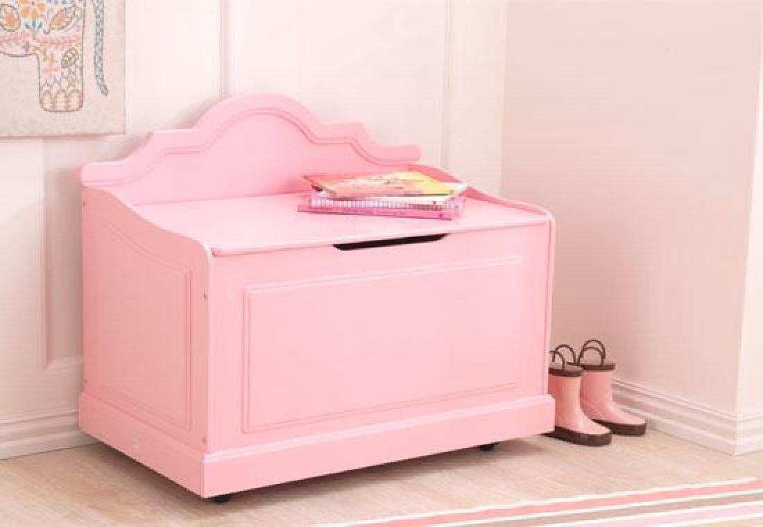 KidKraft Girl's Raleigh Toy Box, Pink